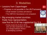 3 modalities
