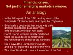 financial crises not just for emerging markets anymore an analogy