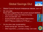 global savings glut