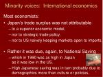 minority voices international economics