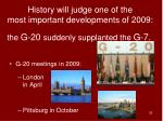 the g 20 suddenly supplanted the g 7
