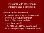 the same with other major industrialized economies