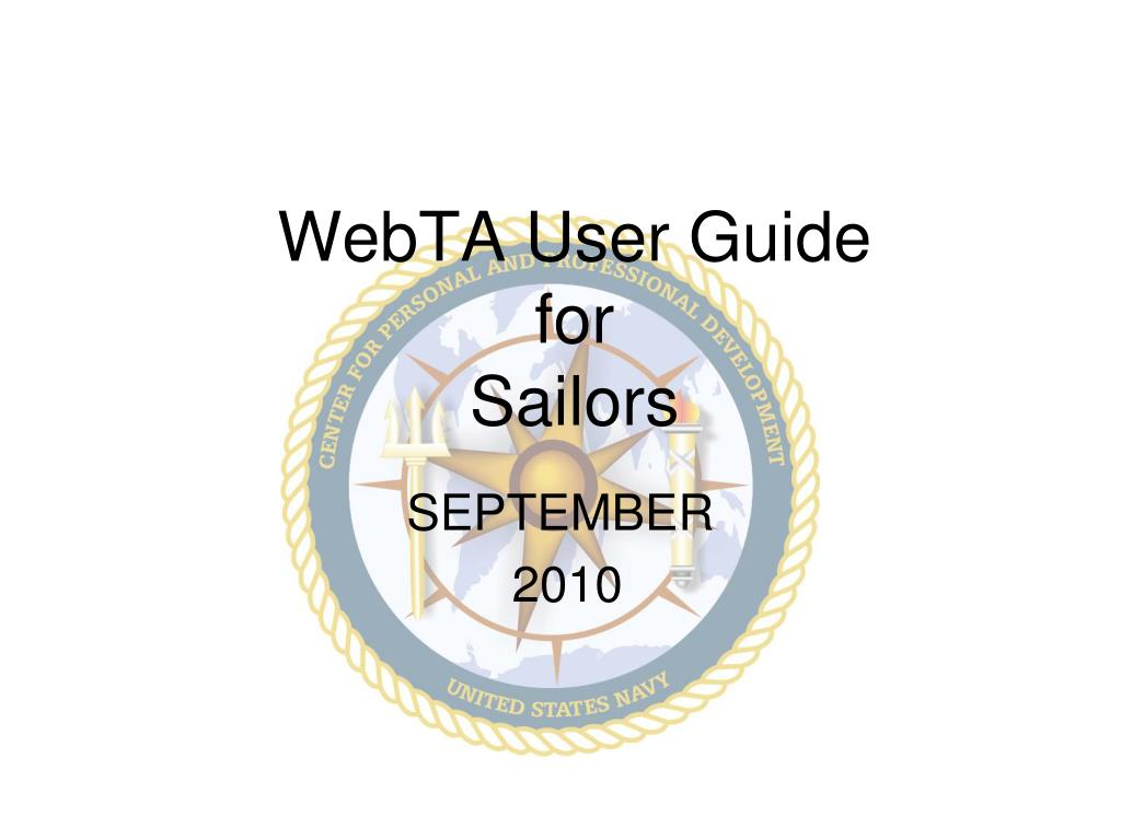 webta user guide for sailors l.