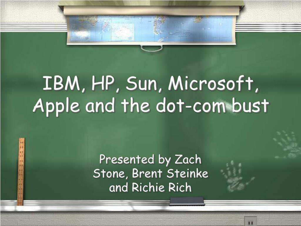 ibm hp sun microsoft apple and the dot com bust l.
