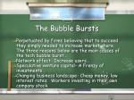 the bubble bursts