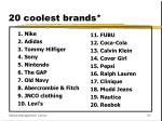 20 coolest brands