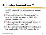 attitudes toward sex