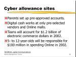 cyber allowance sites