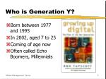 who is generation y
