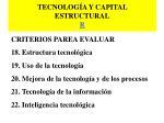 tecnolog a y capital estructural r