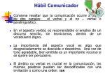 h bil comunicador