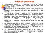 lenguaje y mediaci n