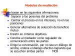 modelos de mediaci n