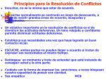 principios para la resoluci n de conflictos