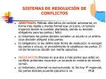 sistemas de resoluci n de conflictos