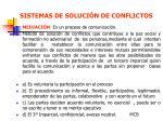 sistemas de soluci n de conflictos