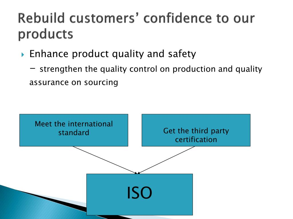 Rebuild customers' confidence to our products