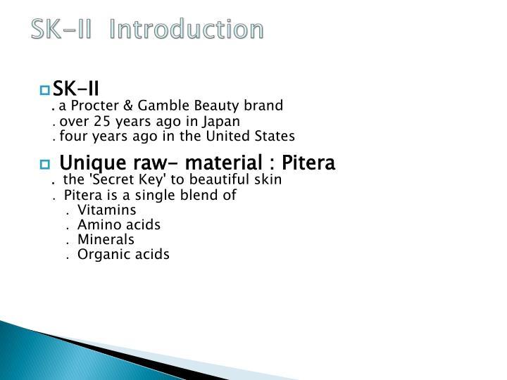 Sk ii introduction