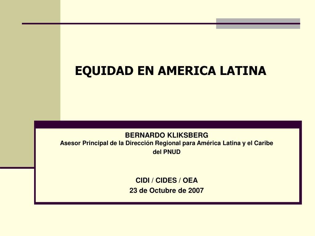 equidad en america latina l.