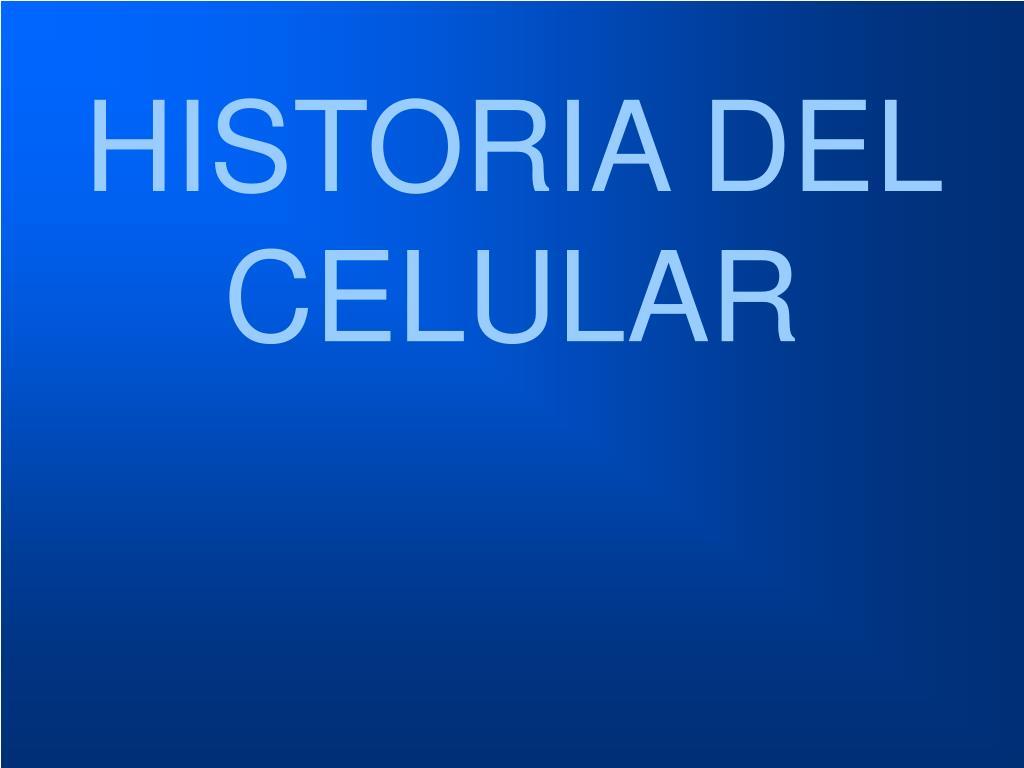 historia del celular l.