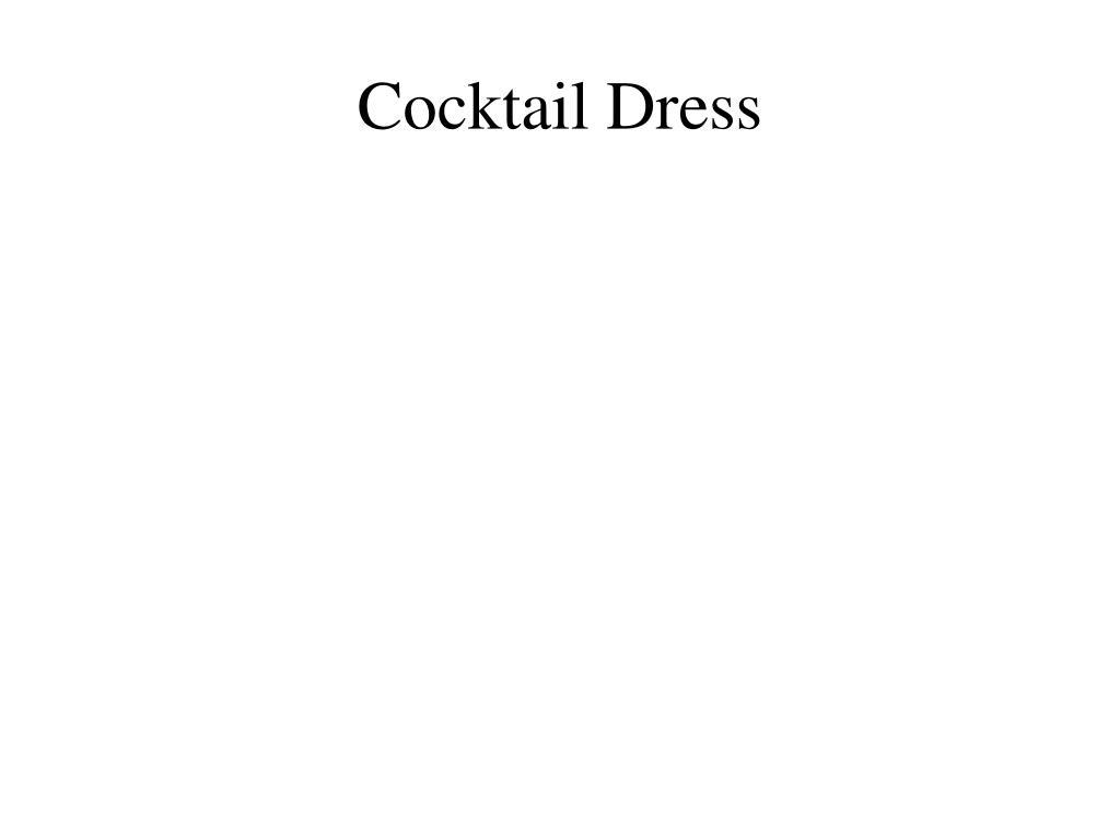 cocktail dress l.