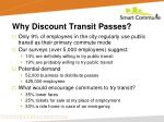 why discount transit passes