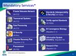 mandatory services