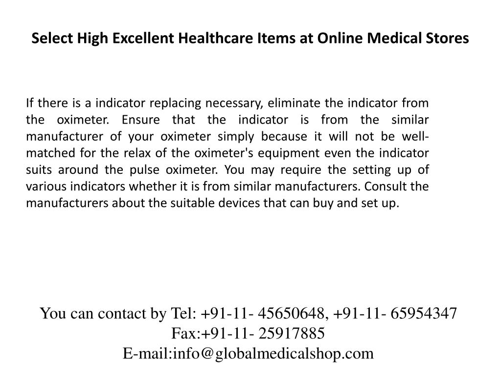 Select High Excellent Healthcare Items at Online Medical Stores