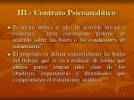 iii contrato psicoanal tico
