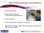 non pharmacologic interventions