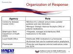 organization of response