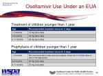 oseltamivir use under an eua