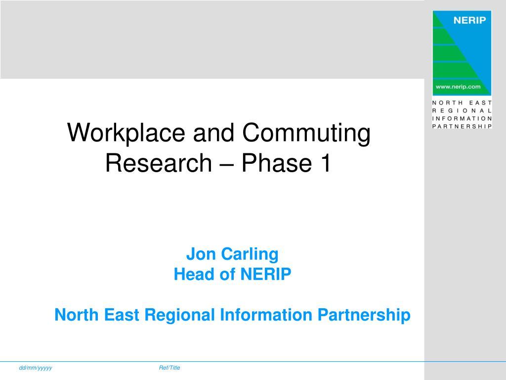 jon carling head of nerip north east regional information partnership l.
