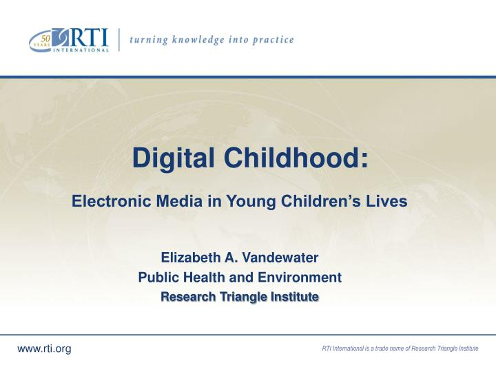 Digital childhood