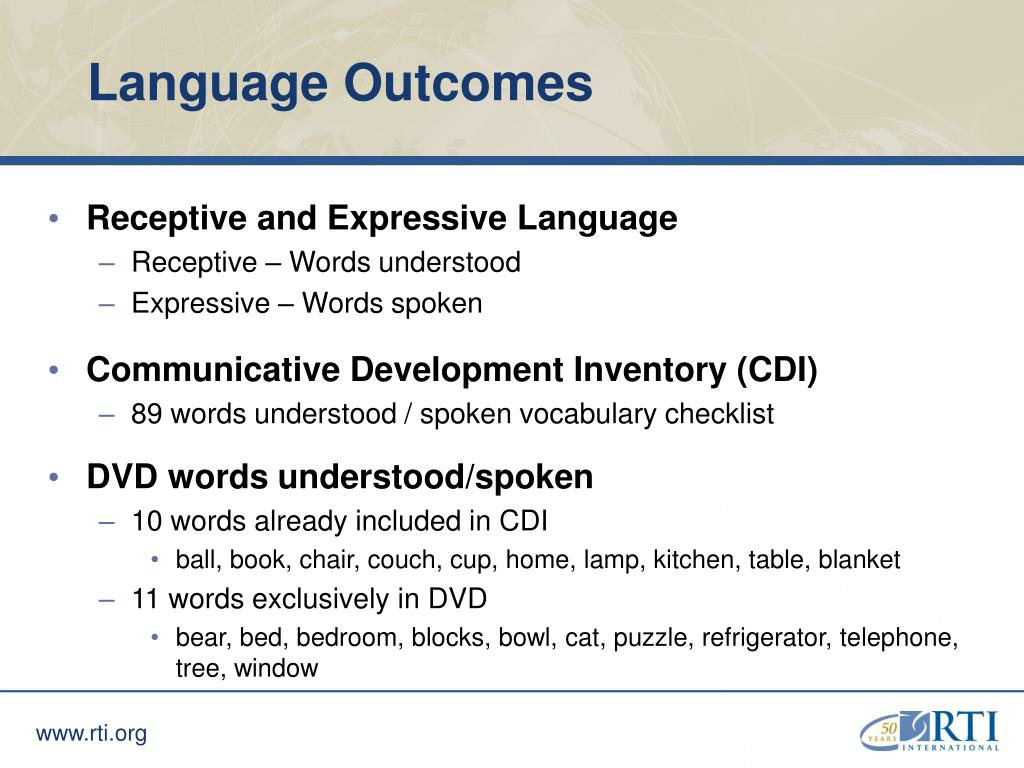 Language Outcomes