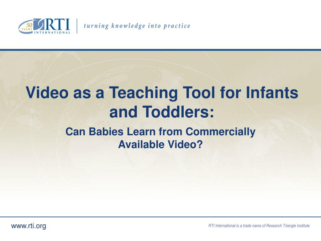 Video as a Teaching Tool for Infants and Toddlers: