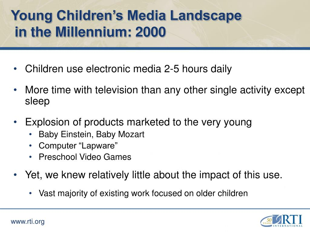 Young Children's Media Landscape