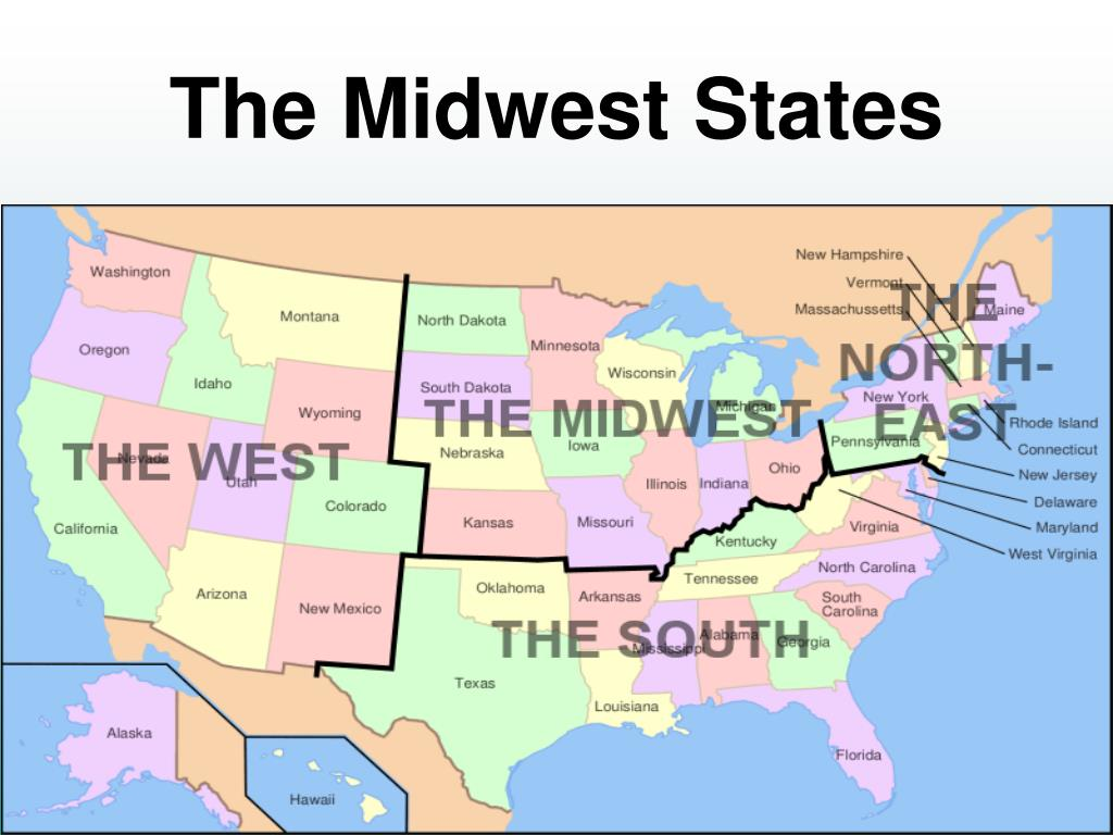the midwest states l.