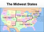 the midwest states