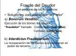 fraude del deudor en perjuicio de los acreedores