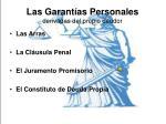 las garant as personales derivadas del propio deudor