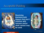 acceptable padding