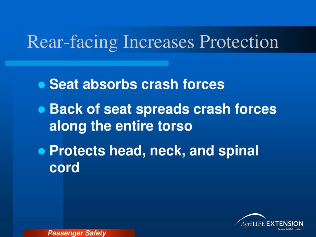 Rear-facing Increases Protection
