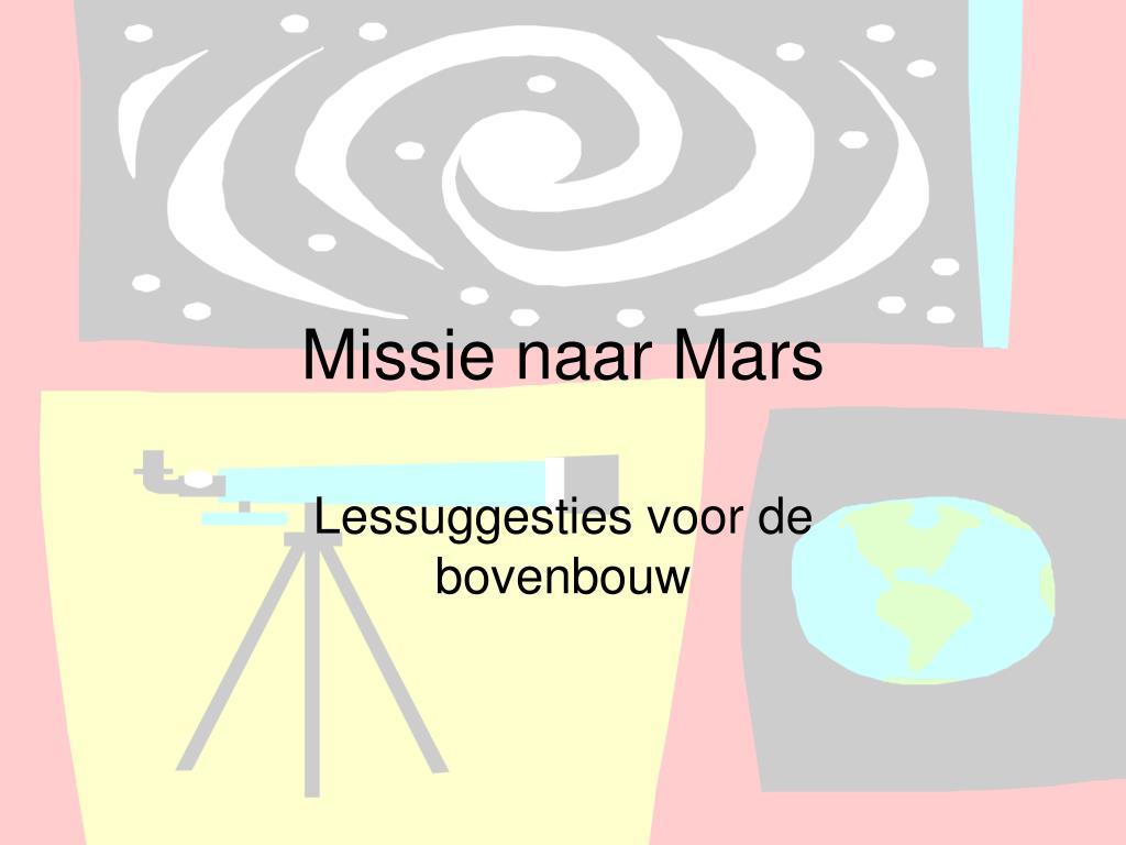 missie naar mars l.