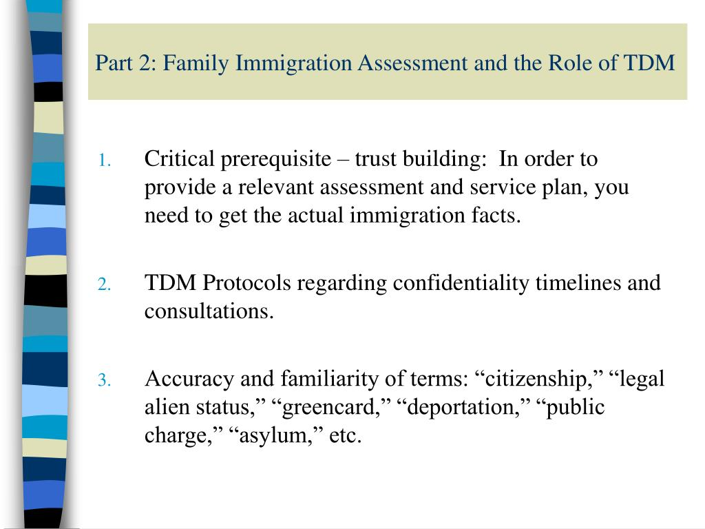 Part 2: Family Immigration Assessment and the Role of TDM