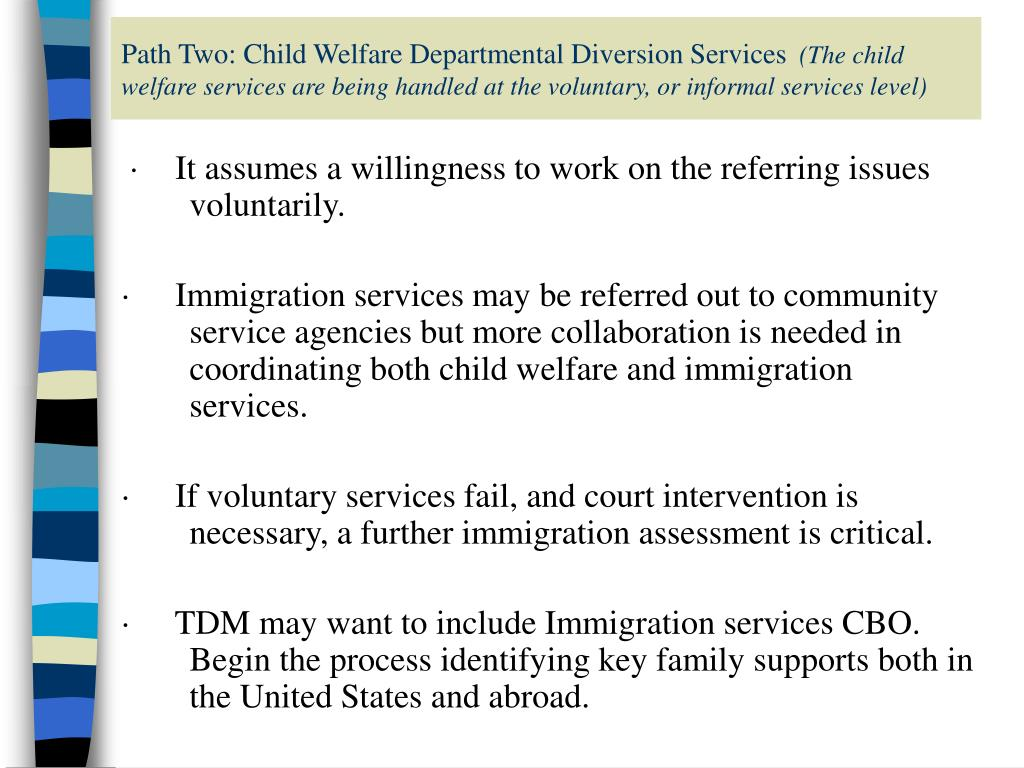 Path Two: Child Welfare Departmental Diversion Services