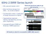 60hz 2 5mw series launch