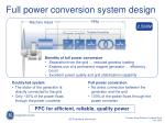 full power conversion system design