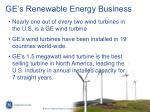 ge s renewable energy business