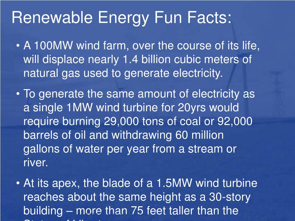 renewable energy fun facts l.